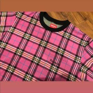 Supreme Pink Plaid shirt 🔥